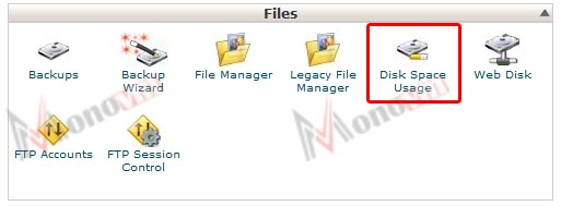 How to use the Disk Space Usage tool in cPanel