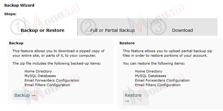 How to backup your website in cPanel?