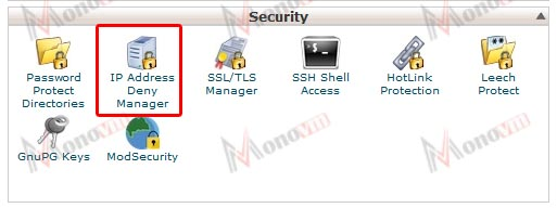 How to use the IP Deny Manager in cPanel