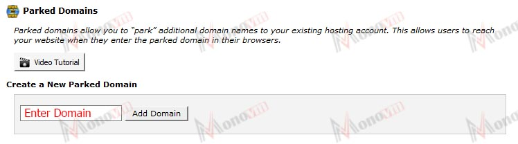 How to park a domain in cPanel
