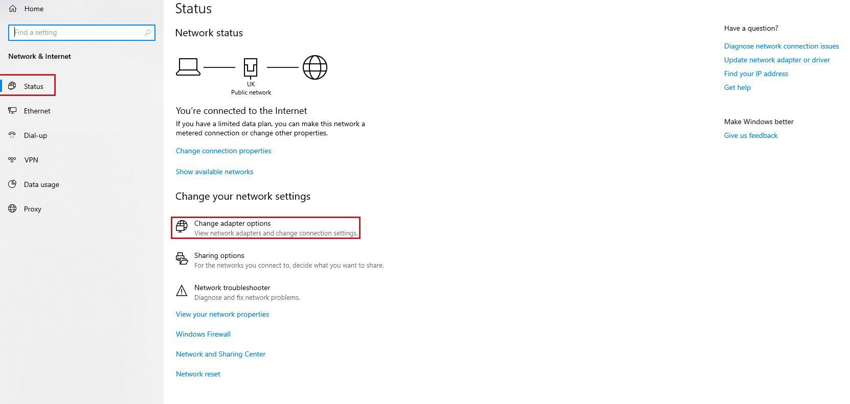 changing MAC address in Windows 10- 2