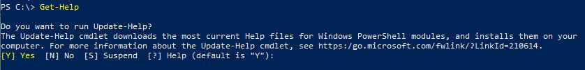 Using Get-Help command in PowerShell 1