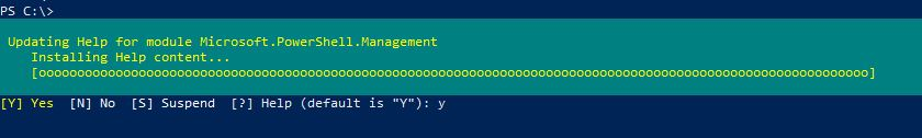 Using Get-Help command in PowerShell 2