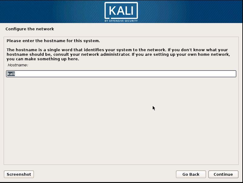 Installing Kali 11