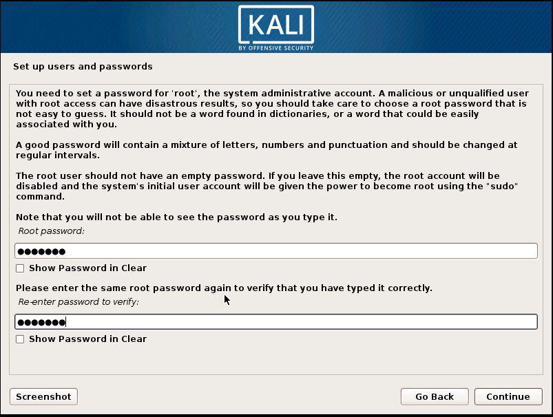 Installing Kali 13