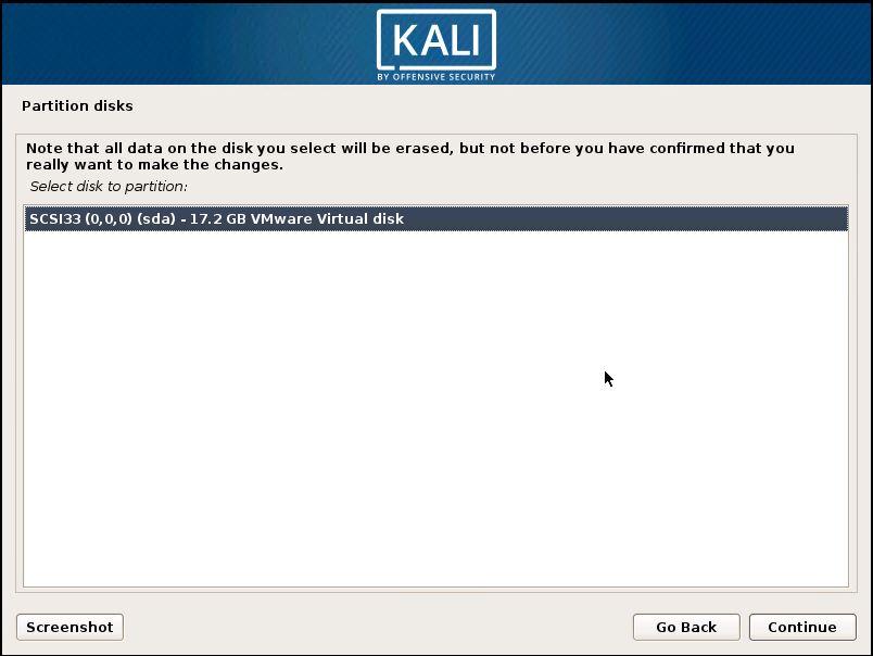 Installing Kali 16