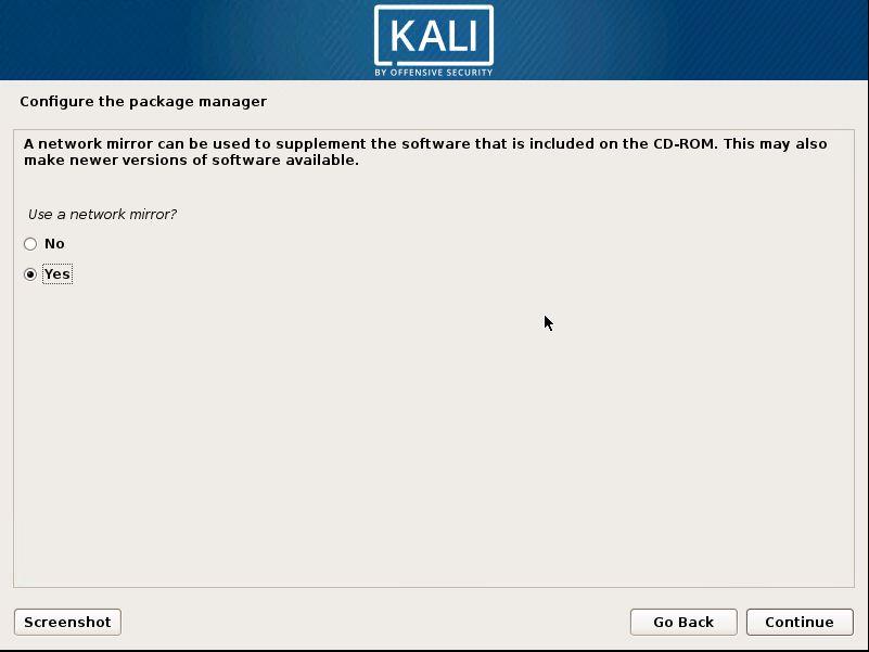 Installing Kali 20