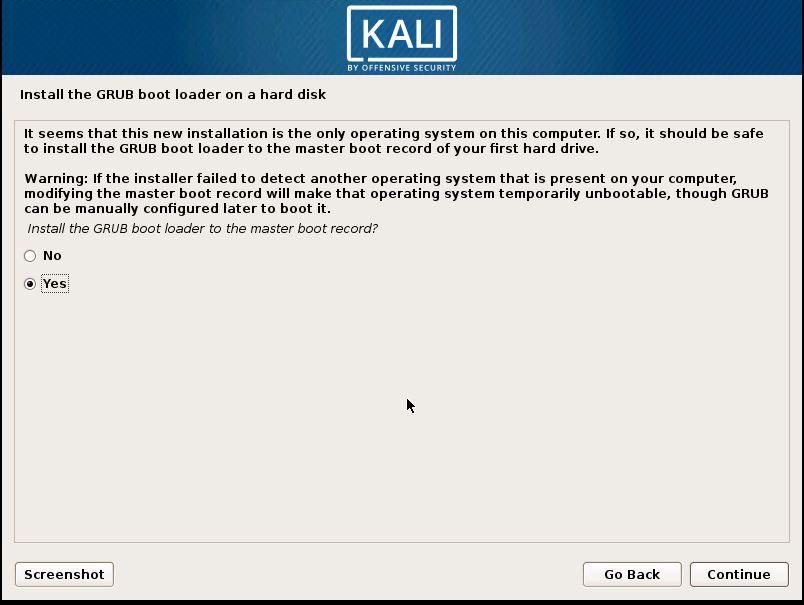 Installing Kali 22