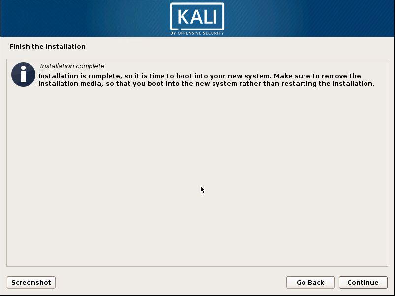 Installing Kali 23