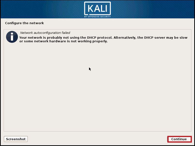 Installing Kali 5
