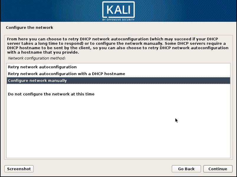 Installing Kali 6