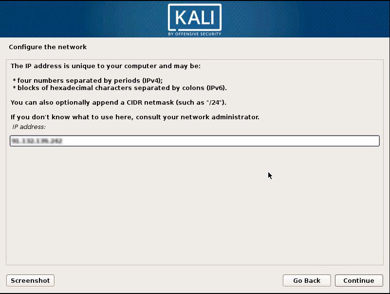 Installing Kali 7