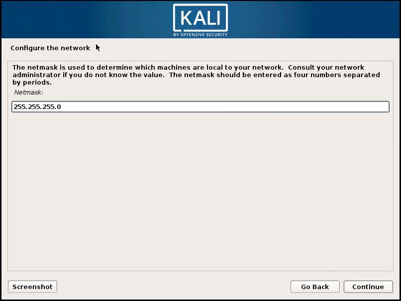Installing Kali 8
