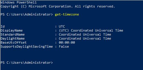 Change and configure timezone with PowerShell