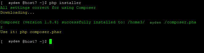 install composer.phar windows 8