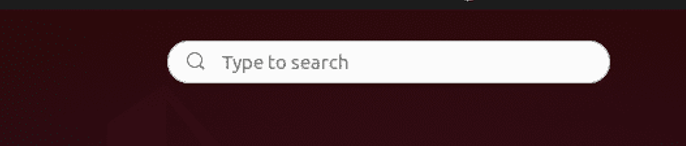 type on search box