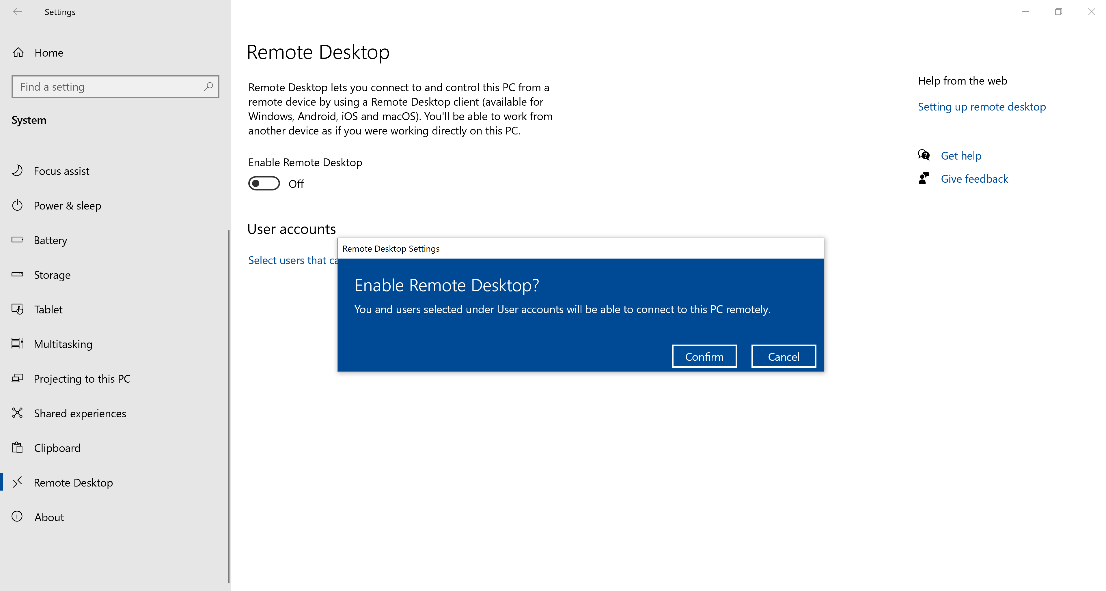 How to enable RDP Step 3