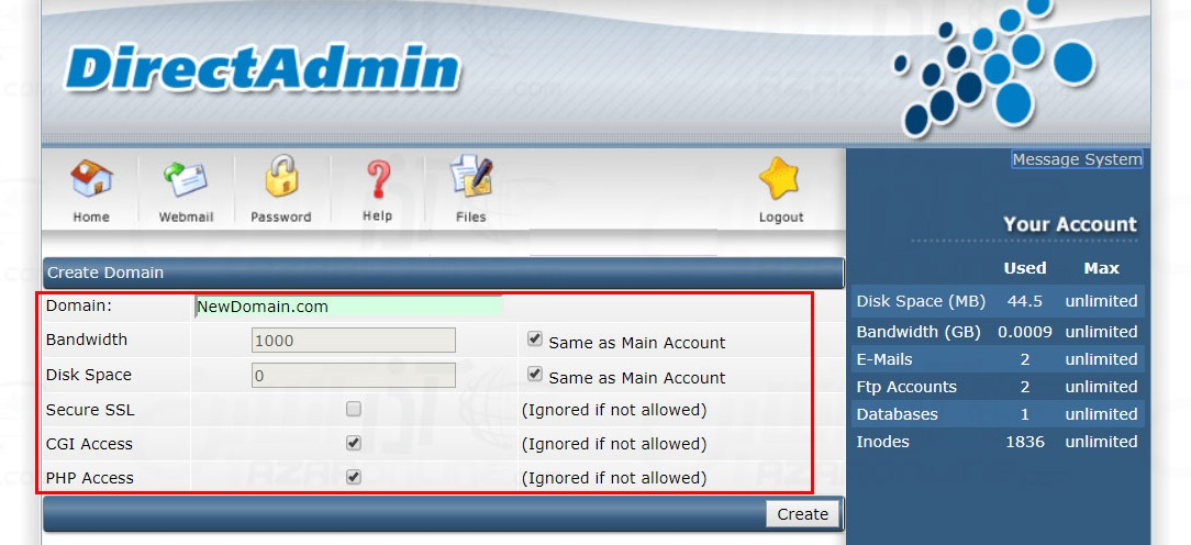 Add-New-Domain-on-DirectAdmin-4