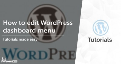 How to Edit WordPress Dashboard Menu