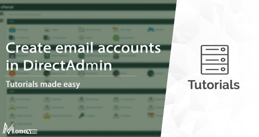 How to create email accounts in DirectAdmin