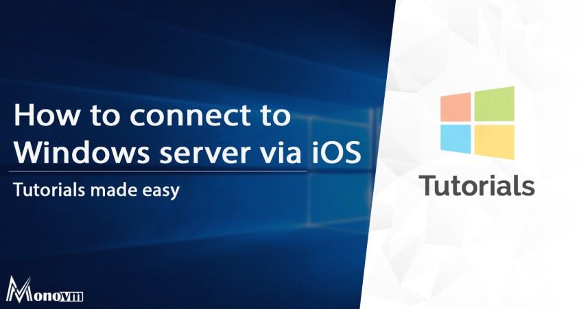 How to connect to Windows server via iOS and iPhone