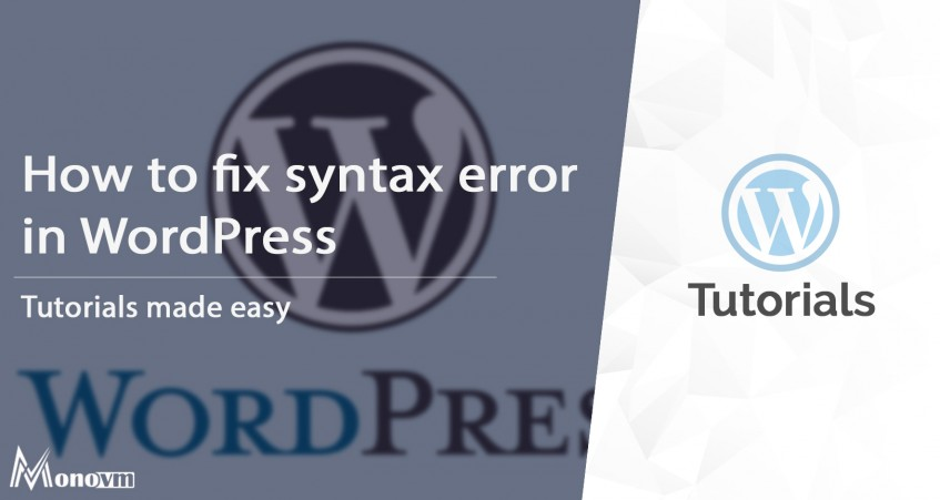 How to Fix the Syntax Error in WordPress website