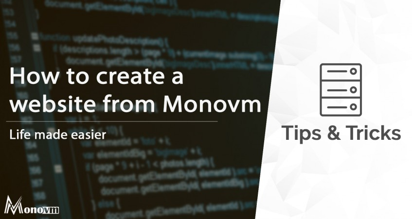 How to create a website with Monovm!